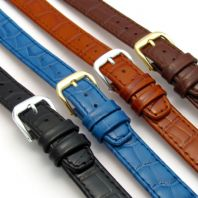 CONDOR 'Louisiana' Leather Watch Strap Band Alligator Grain 12mm 14mm 169R